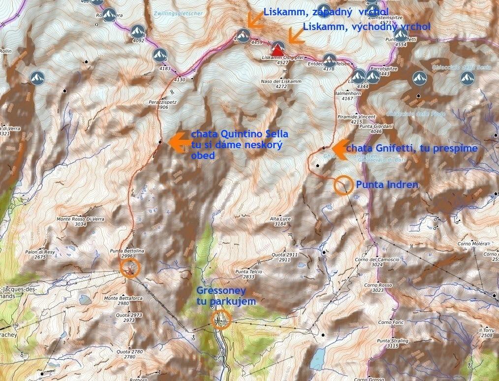 Liskamm mapa