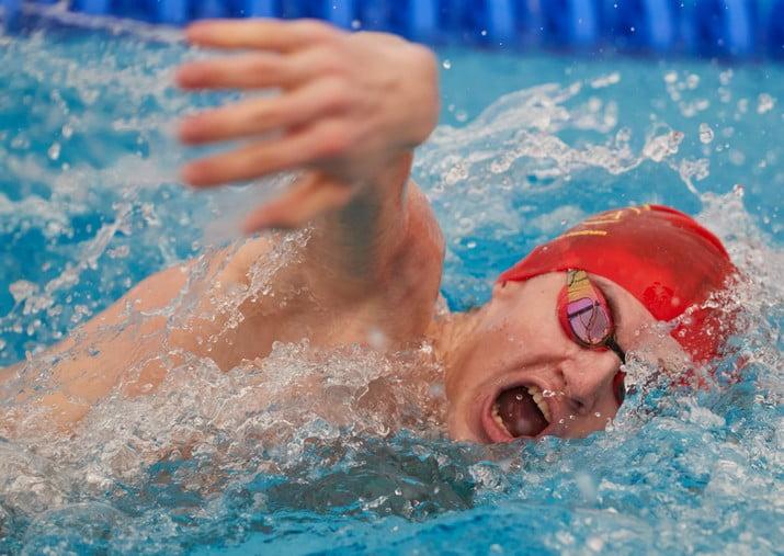 Najmladsi plavec Dukly Michal Halinar na trati 50 m volny sposob59 VCS