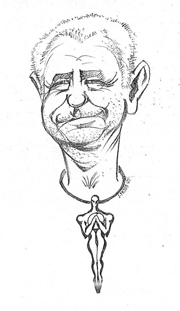 Vojtech Christov karikatura - Frtus