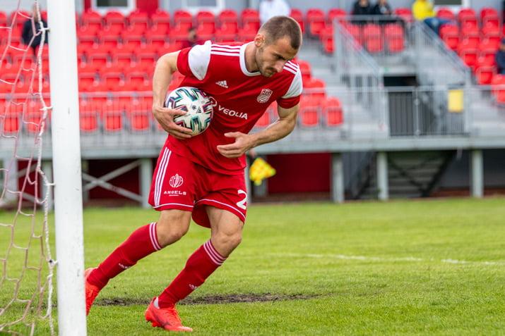 Vujosevic po streleni svojho golu Petrzalke na 1 122 05 2021